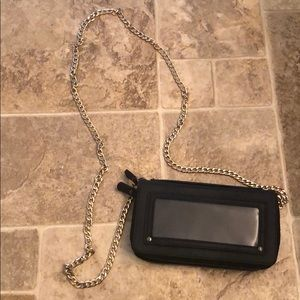 Handbags - Black cross body with chain
